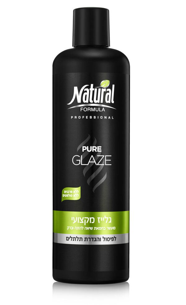 """גלייז מקצועי 350 מ""""ל Pure Glaze נטורל פורמולה Natural Formula"""