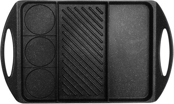 פלאנצ'ה מחולקת 42 × 26 ס״ם Food Appeal Black Marble פוד אפיל