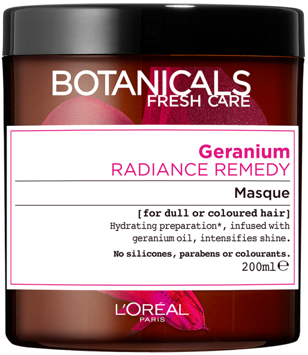 "מסכת זוהר וברק לשיער צבוע 200 מ""ל L'Oréal Paris Botanicals Fresh Care Geranium Masque For Dull or Coloured Hair"