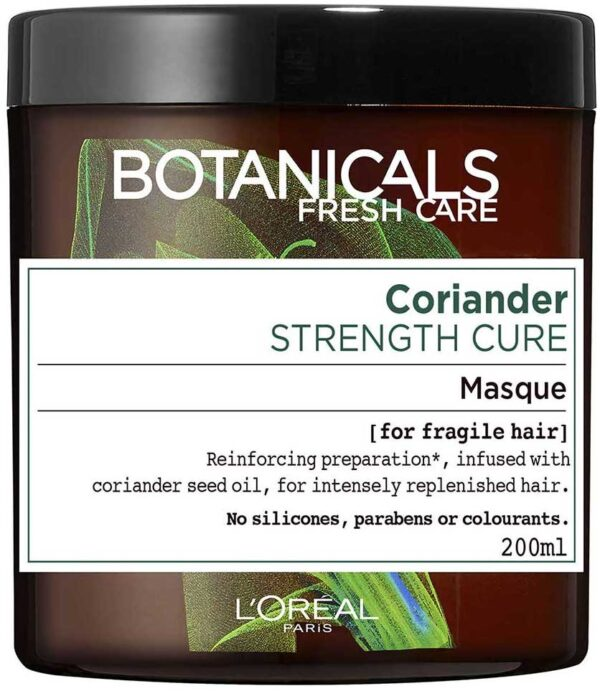 "מסיכה טבעית לשיער עדין 200 מ""ל L'Oréal Paris Botanicals Fresh Care Coriander For Fragile Hair"