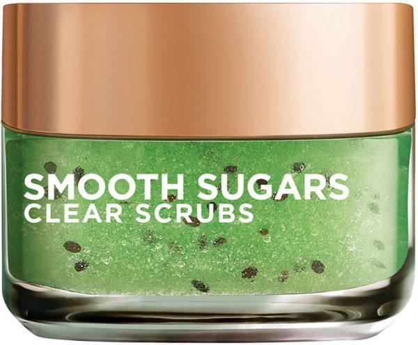 """גרגרי פילינג סוכר לטיהור העור 50 מ""""ל L'Oréal Paris Smooth Sugars Clear Scrub"""