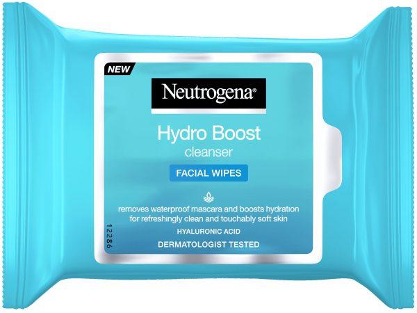 מגבונים לניקוי הפנים מעניקים לחות, לעור נקי, רענן ורך מסדרת ®Hydro Boost