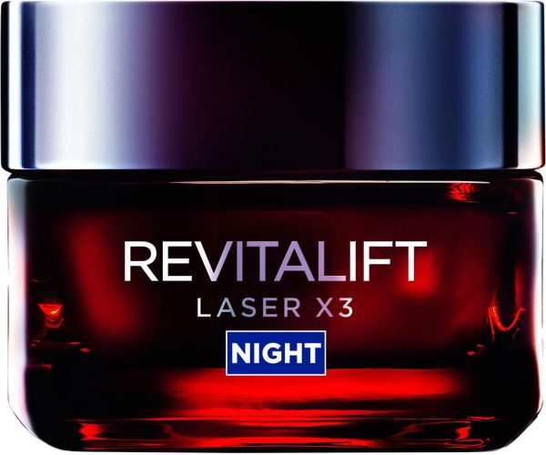 "קרם-מסכה ללילה רויטליפט לייזר 50 מ""ל L'Oréal Paris Revitalift Laser Renew X3 Night Cream"