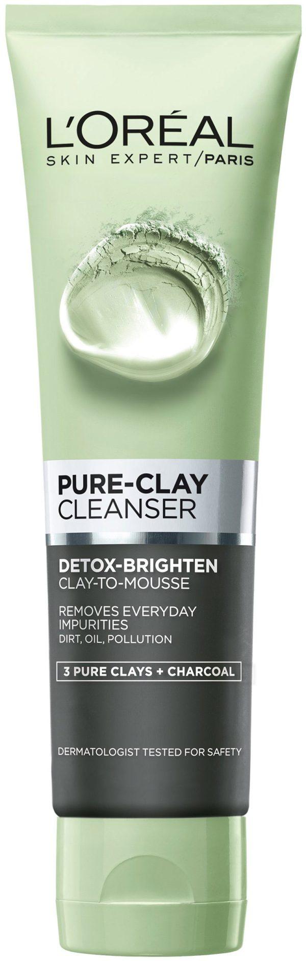 תרחיץ פנים שחור 150 מ״ל Pure Clay Cleanser 3 Pure Clays +Charcoal
