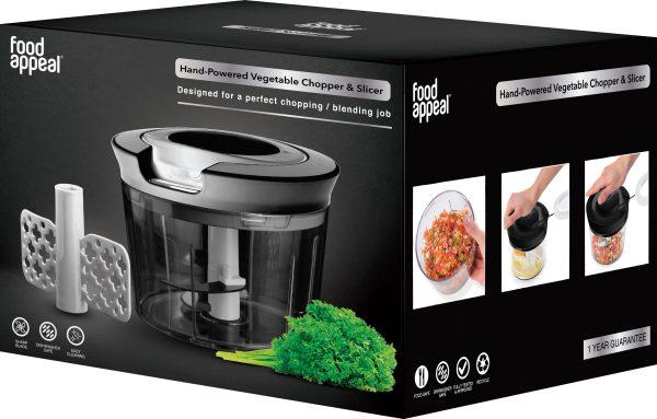 קוצץ ירקות Food Appeal Hand-Powered Vegetable Chopper and Slicer פוד אפיל