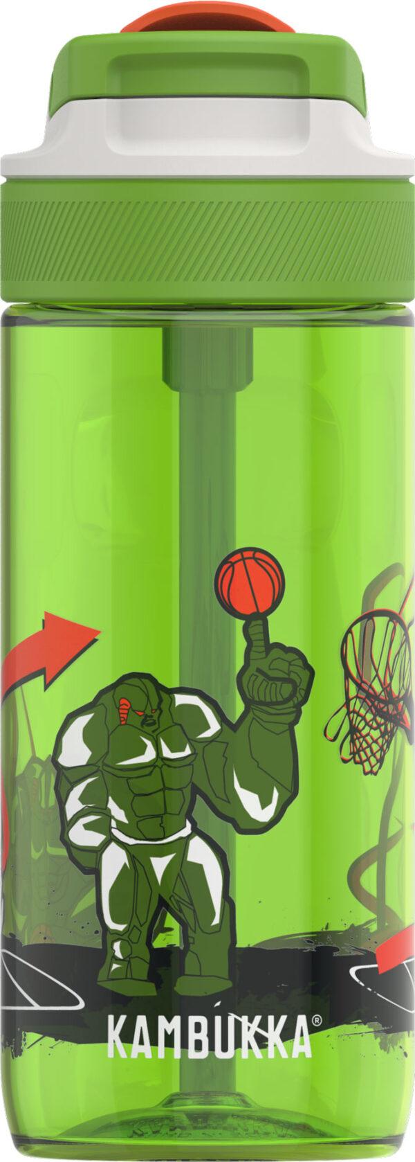 """בקבוק שתיה ילדים 500 מ""""ל ירוק Kambukka Lagoon Basket Robo קמבוקה"""