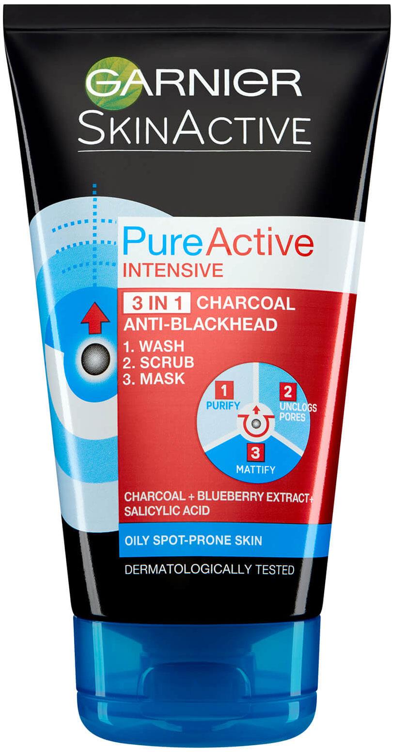 """פיור אקטיב 3 ב-1 פחם 150 מ""""ל Garnier Pure Active"""