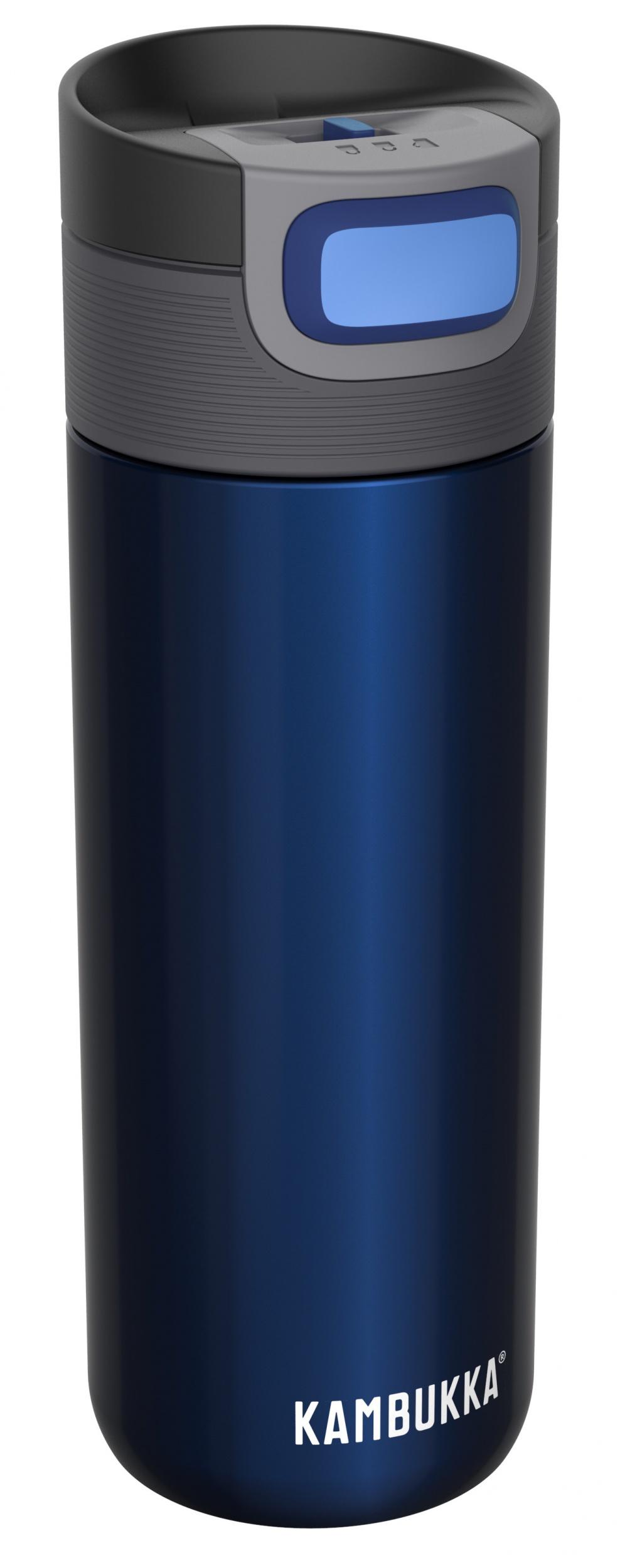 """בקבוק שתיה תרמי כחול 500 מ""""ל Midnight קמבוקה Kambukka Etna"""