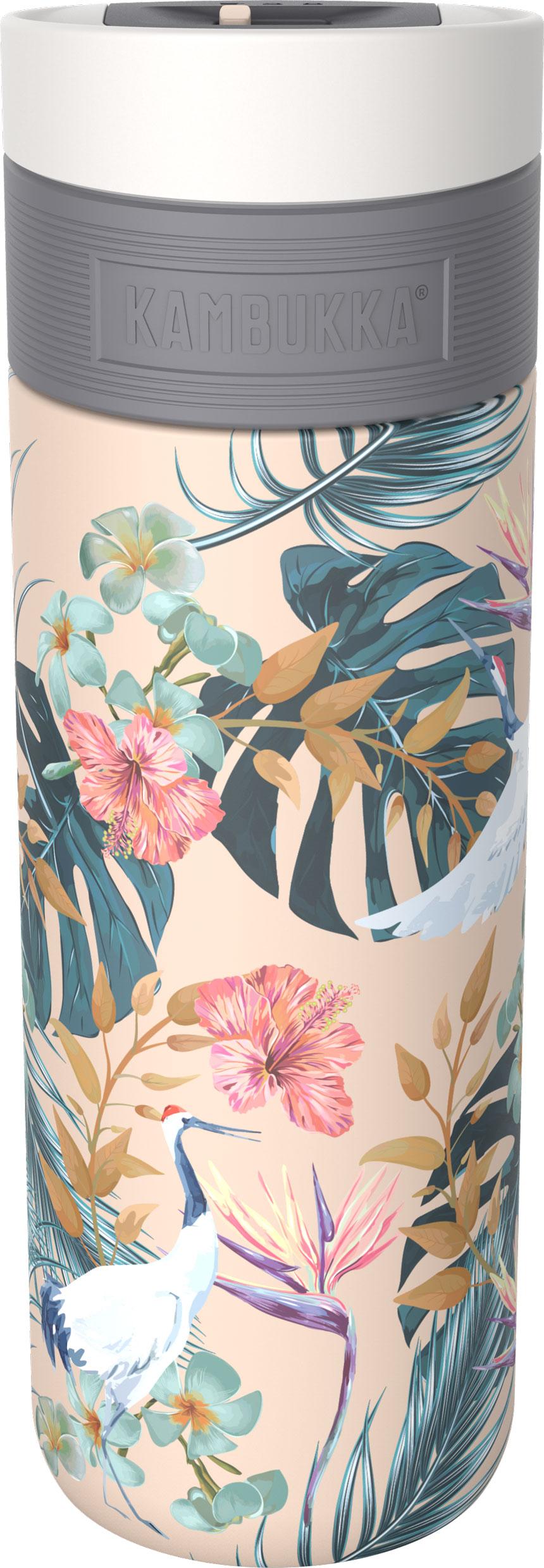 בקבוק שתיה תרמי פרחים 500 מ״ל Kambukka Etna Paradise Flower