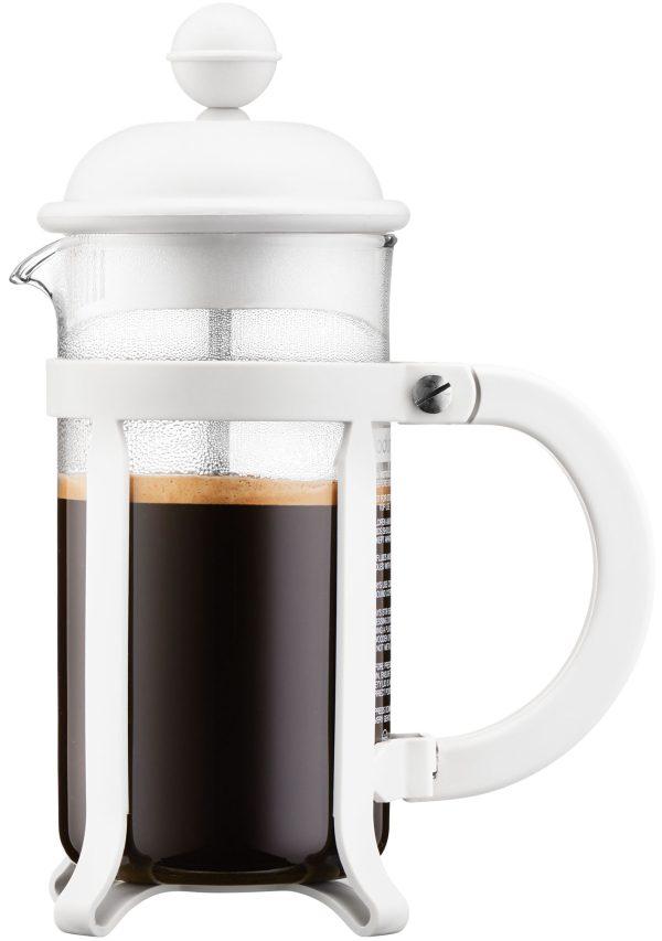 פרקולטור 3 כוסות מסדרת Java בגימור לבן תוצרת Bodum שוויץ