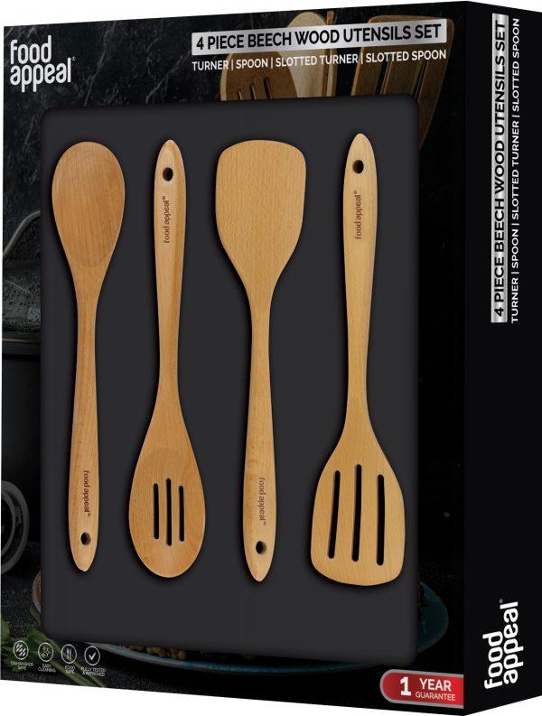 מארז 4 כלי ששת מעץ Food Appeal פוד אפיל