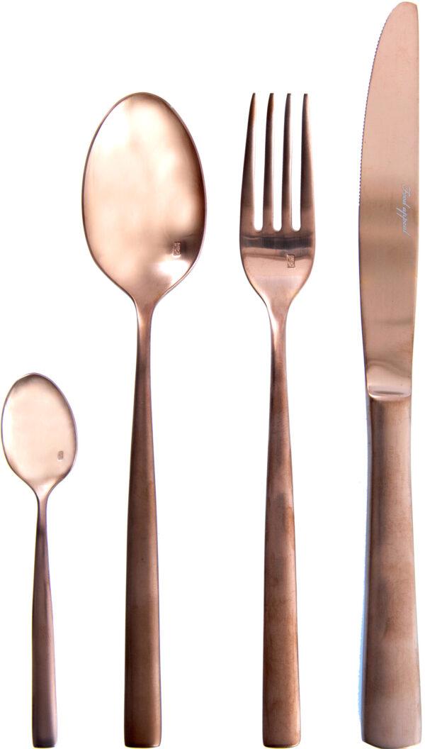 """סט סכו""""ם מהודר 24 חלקים Food Appeal Pure Rose Gold פוד אפיל"""