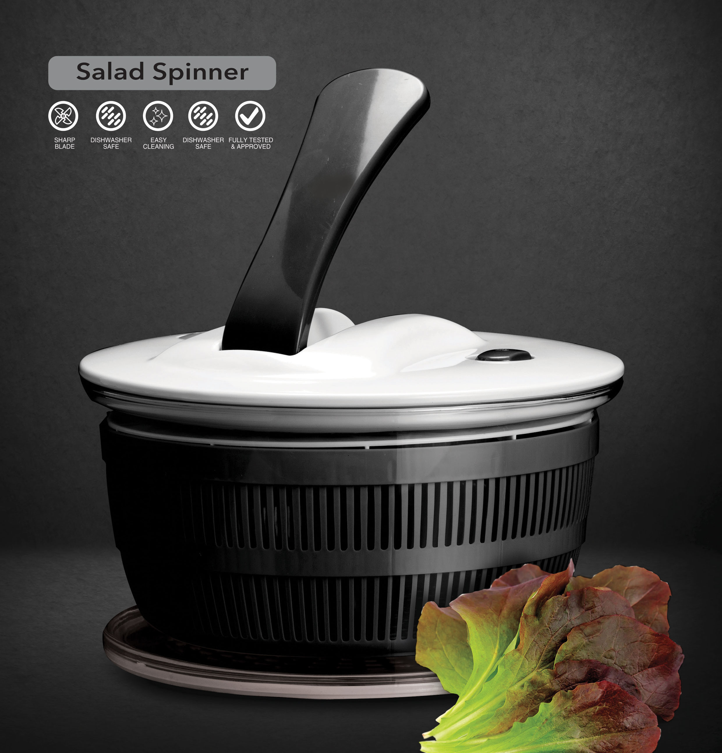 מייבש חסה איכותי Food Appeal Salad Spinner פוד אפיל