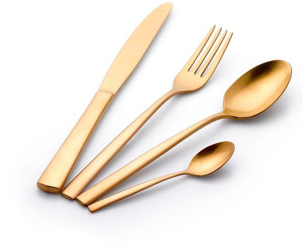 """סט סכו""""ם מהודר 24 חלקים Food Appeal Pure Gold פוד אפיל"""